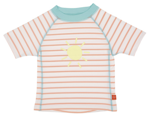 Rashguard Short Sleeve Girls sailor peach 18 mo.