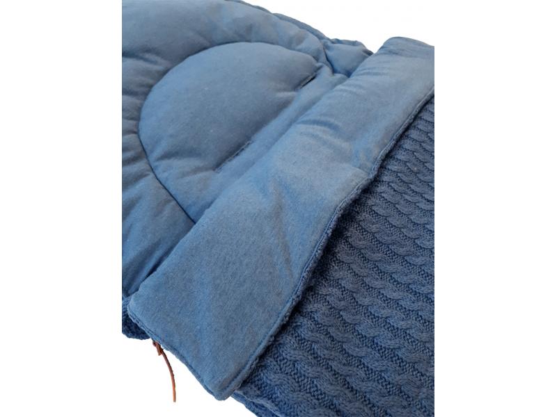 Fusak celoroční GRANDMA OLD Blue Melange - BabyBoo 2e671d75fb