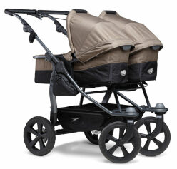 Duo combi push chair - air chamber wheel brown