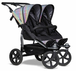 Duo stroller - air chamber wheel glow in the dark
