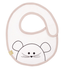 Bryndák Small Bib Waterproof Little Chums mouse