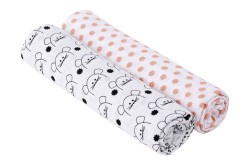 Swaddle Burp blanket 120x120 Little Chums mouse
